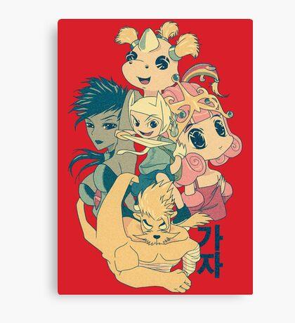 Manga Adventure Time Canvas Print