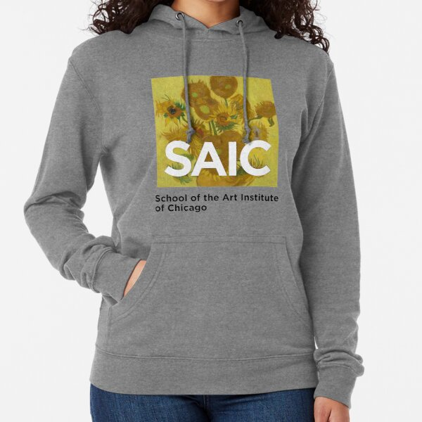 SAIC School of the Art Institute Chicago Van Gogh Sunflowers  Lightweight Hoodie