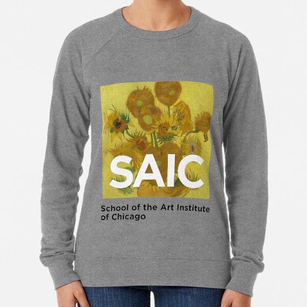 SAIC School of the Art Institute Chicago Van Gogh Sunflowers  Lightweight Sweatshirt