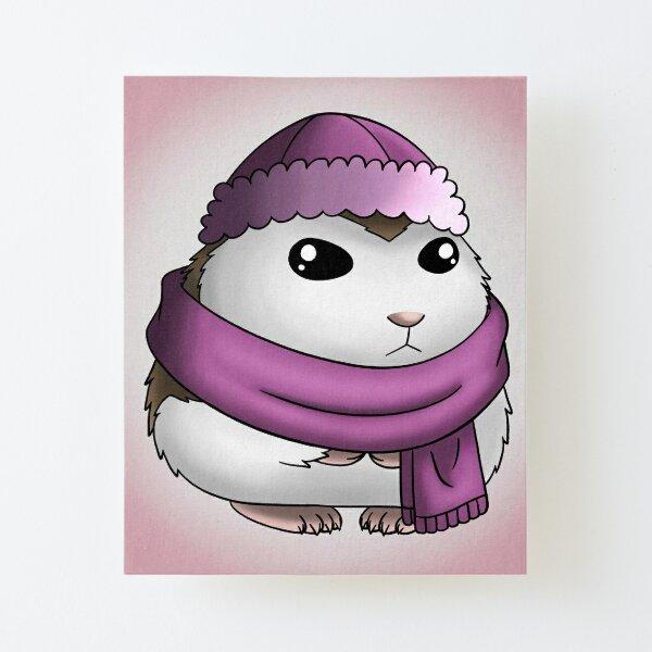 Winter Mochi Canvas Mounted Print