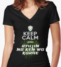 Keep Calm and... Women's Fitted V-Neck T-Shirt