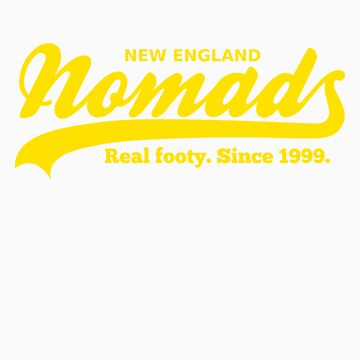 Real footy. Since 1999. (Yellow) by nomads
