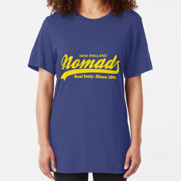 Real footy. Since 1999. (Yellow) Slim Fit T-Shirt