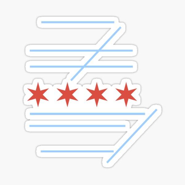 Carte de piste KORD Drapeau de Chicago Sticker