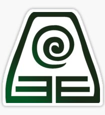 Earth Bending Symbol (Green Black) Sticker