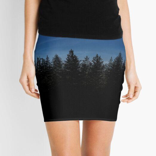 Silhouette forest at Dusk Mini Skirt