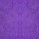 Purple Tones Suade Leather Embossed Floral Pattern by artonwear