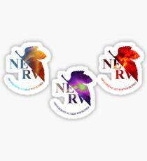 Space Genesis Evangelion || Nerv Logo (Sticker Set) Sticker