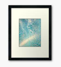 THE SEA OF AQUAMARINE Framed Print