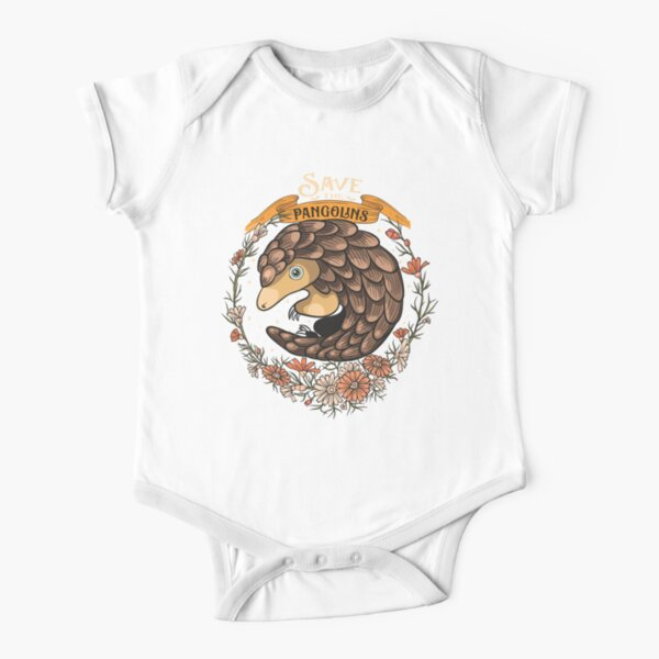 Adorable Save The Pangolins Short Sleeve Baby One-Piece