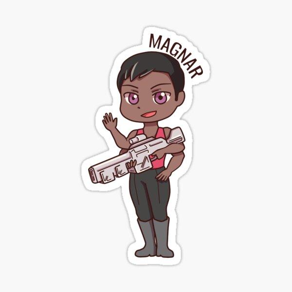 Magnar Chibi (with name) Sticker