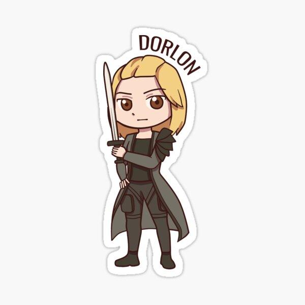 Dorlon Chibi (with name) Sticker