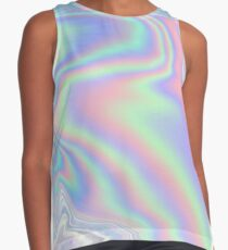 Holographic Pattern Sleeveless Top