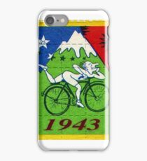 albert hoffman bike 1943 Acid lsd tabs iPhone Case/Skin