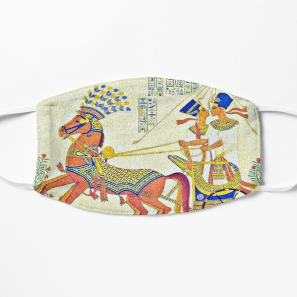 King Akhenaten and Queen Nefertiti Flat Mask