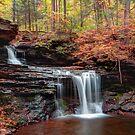 October Evening Below R B Ricketts Falls by Gene Walls