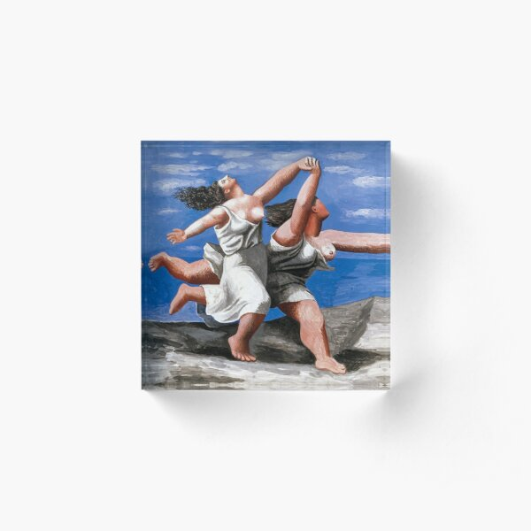 Picasso | Two Women Running on the Beach |  Acrylic Block
