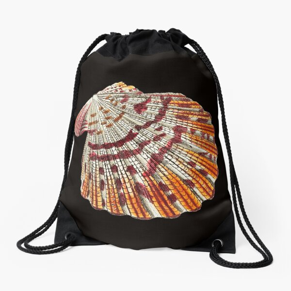 Psychedelic Sea Shell Drawstring Bag