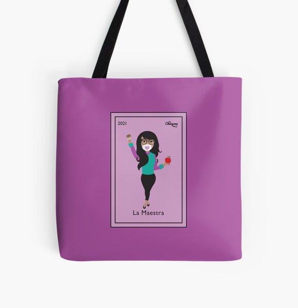 La Maestra All Over Print Tote Bag