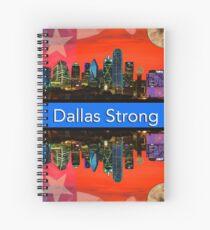 Dallas Strong - Sunset Dallas Skyline Spiral Notebook