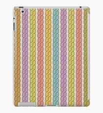 Simple plait seamless pattern. Retro colors background.  iPad Case/Skin