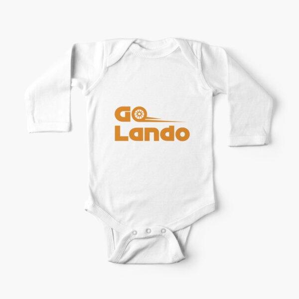 Go Lando (naranja) Body de manga larga para bebé