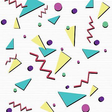 80's triangle pattern by Nadinosaur8
