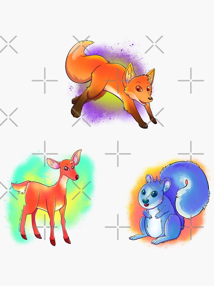 Neon Woods Sticker Pack by Radiochio