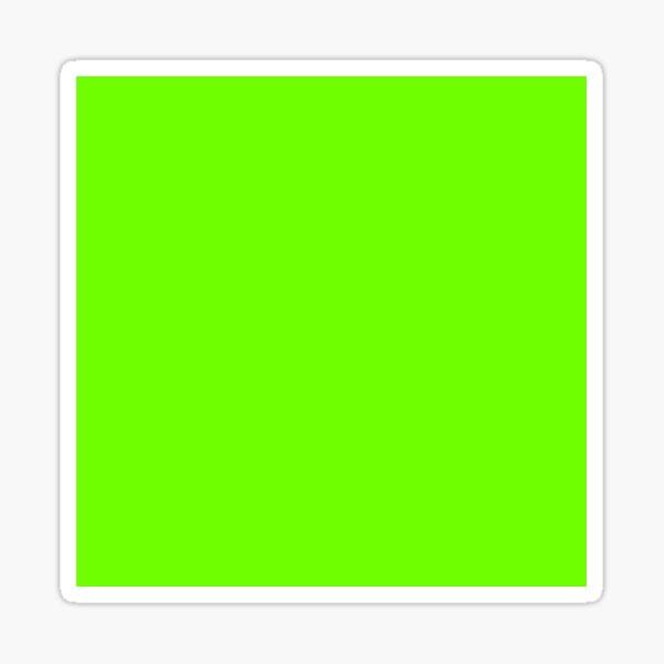 Super Bright Fluorescent Green Neon Sticker