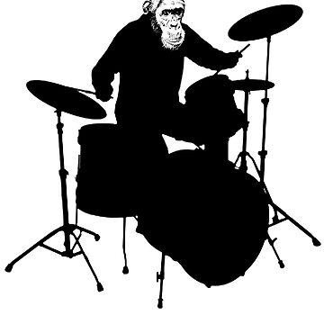 Monkey Drummer by digitalmidgets