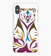 Tribal bear colour iPhone Case/Skin