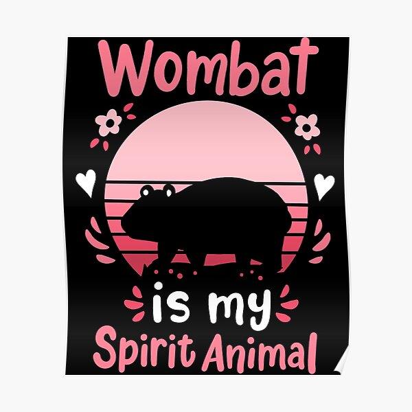 Wombat Spirit Animal Wombat Lover Retro Poster