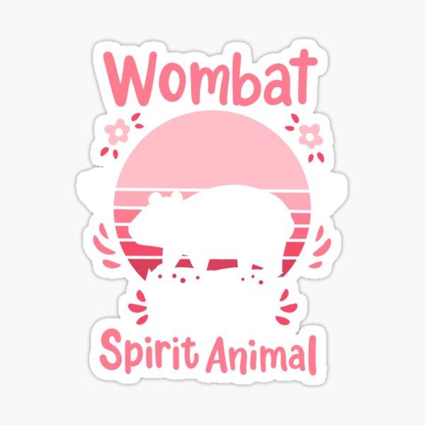 Wombat Spirit Animal Wombat Lover Retro Sticker