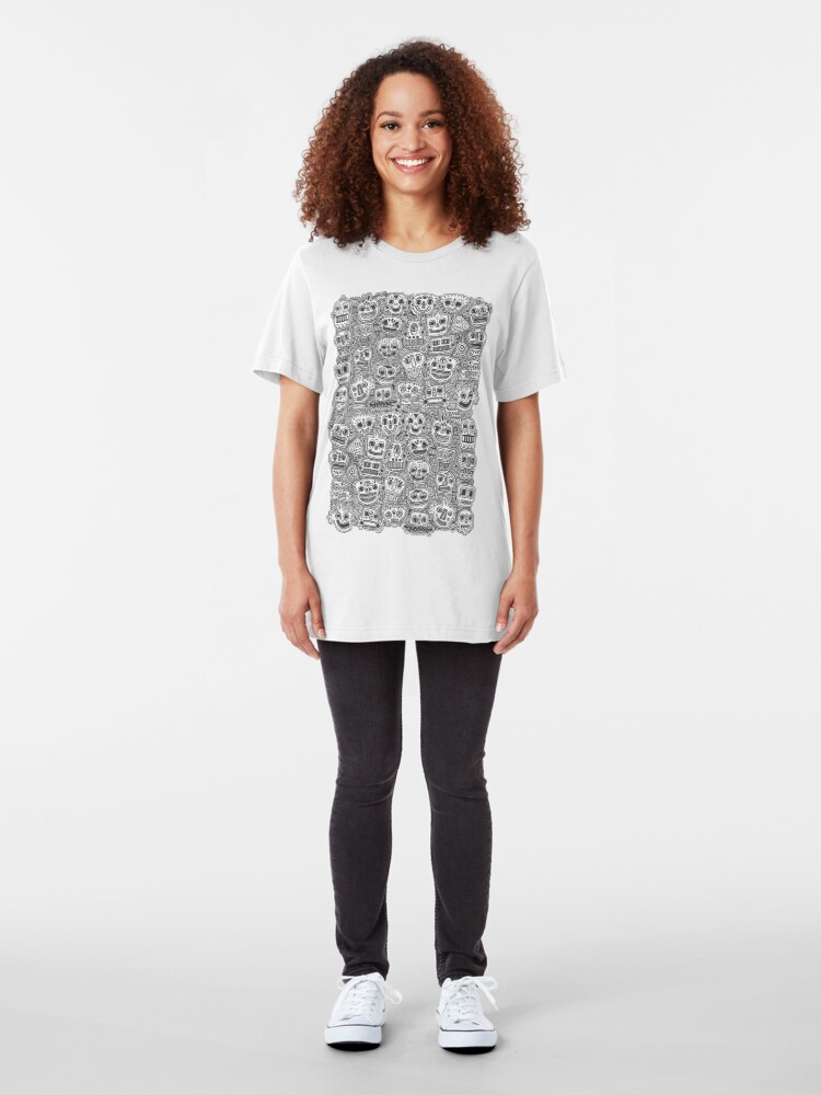 Alternate view of Oodles of Doodles Slim Fit T-Shirt