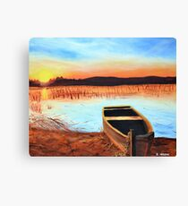 Sunset on The Marshes Canvas Print
