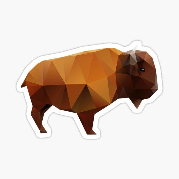 Polygonal Buffalo Sticker