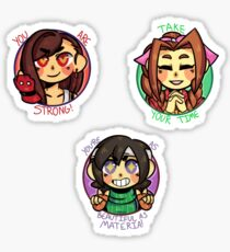 Positive Gal Pals set Sticker