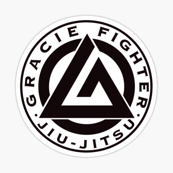 Gracie Fighter Jiu Jitsu Sticker