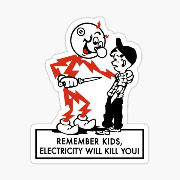 Reddy kilowatt warning 4 Sticker