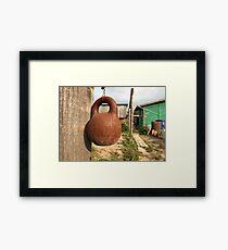old kettlebell Framed Print