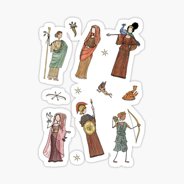 Greek Myth Comix - The Gods Sticker Pack 1 COLOUR Sticker