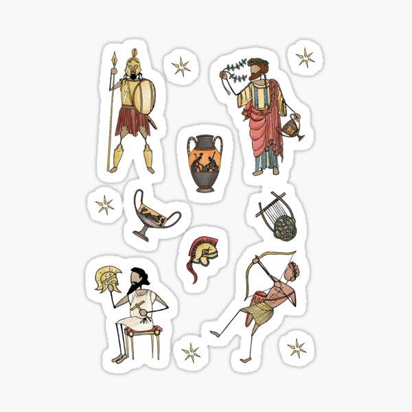 Greek Myth Comix - The Gods Sticker Pack 3 COLOUR Sticker