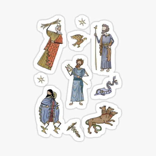 Greek Myth Comix - The Gods Sticker Pack 2 COLOUR Sticker