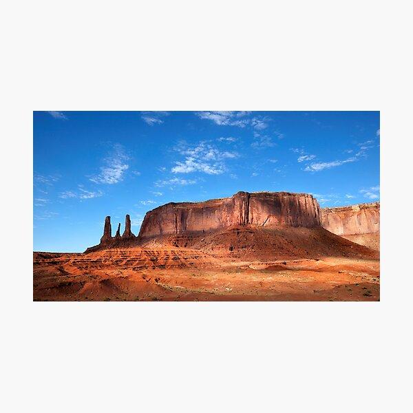 Three Sisters, Monument Valley, Arizona. Photographic Print