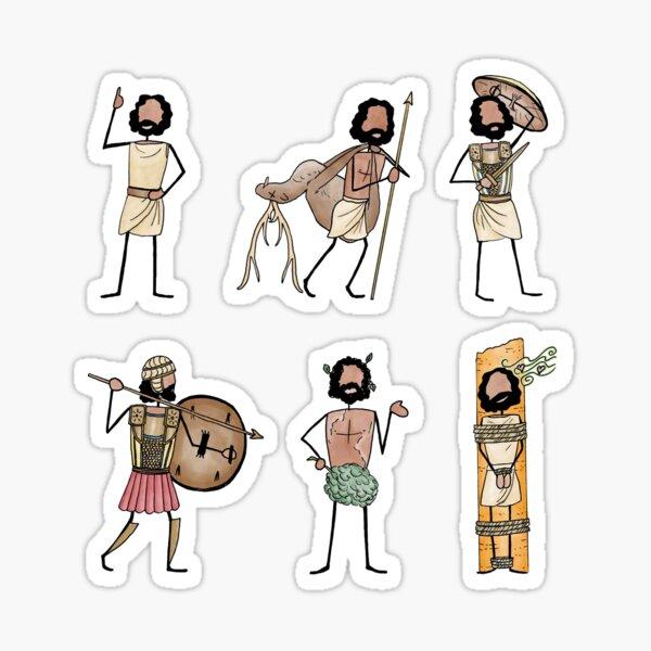 Greek Myth Comix - ODYSSEUS stickers 1 Sticker