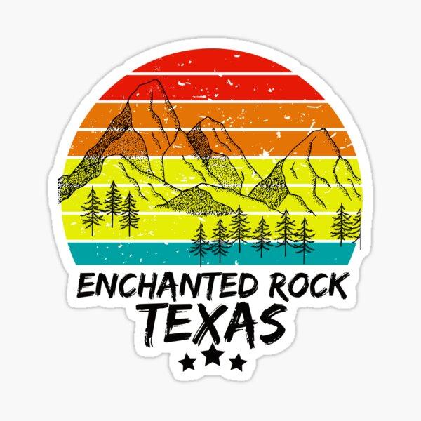ENCHANTED ROCK TEXAS,TEXAS VINTAGE Sticker