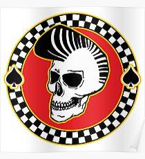 Rockin' Skull - colour Poster