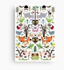 Mixed animal fun Canvas Print