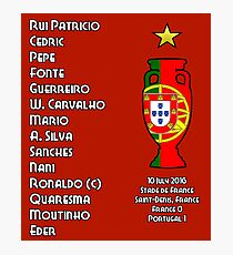 Portugal Euro 2016 Champions Final Squad Photographic Print