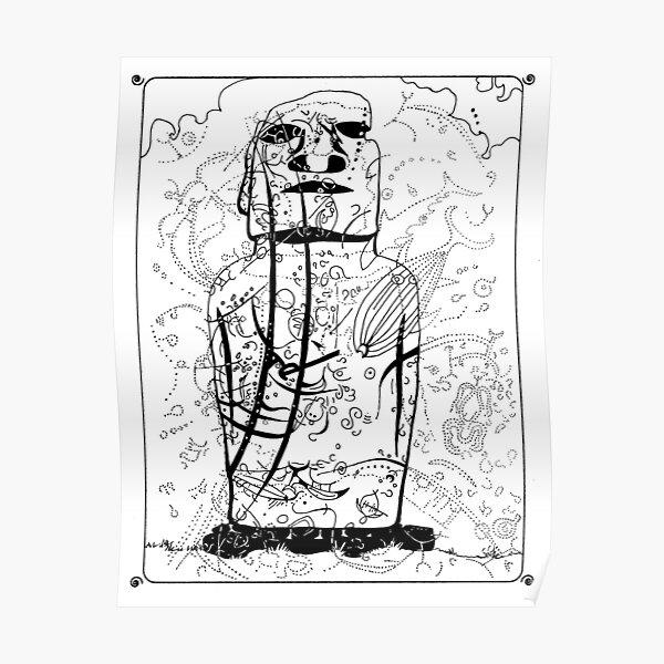 Moai#2 Ahu Tautira Poster